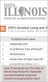 Illinois Data Portal for Assisted LIving