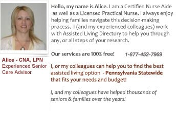 Pennsylvania assisted living and memory care support
