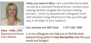 care help and questions for San Bernardino