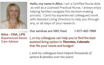 Senior Care help for Thornton