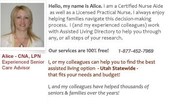 Utah assisted living assistance