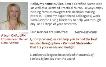 Vermont assisted living help for seniors