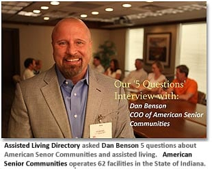 (image: Interview with Dan Benson, COO American Senior Communities in Indiana)