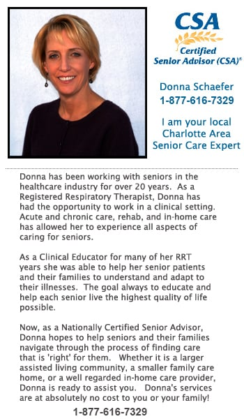 I am a senior care advisor with expert knowledge of the many options in Charlotte