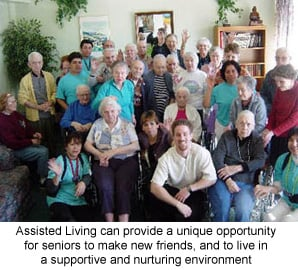 Assisted Living is a supportive environment