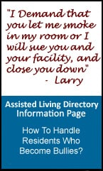 Handling difficult assisted living facility residents