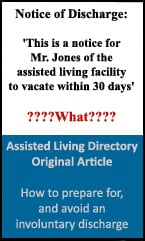 Preparing for an involuntary discharge from an assisted living facility