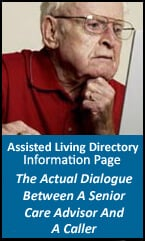 Dialogue between caller and senior care advisor