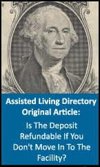 Is the assisted living deposit refundable