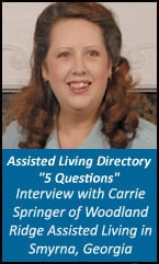 Interview With Carrie Springer of Woodland Ridge in Smyrna, GA
