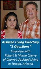 Interview- Robert and Myrna Cherry of Cherry's Assisted Living