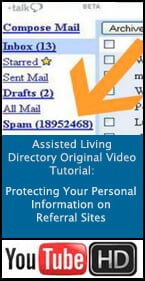 Assisted Living Tutorial - Taking care with your personal information