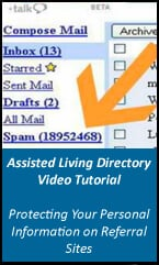 Assisted Living Directory Help Page - Protecting Information