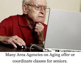 (image: Many Area Agencies on Aging offer or coordinate classes for seniors, among other programs and services)