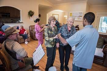 dancing at the care home