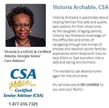 Local, Atlanta advisor for senior care issues and help.