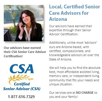 Qualified senior care advisors in Arizona can guide you to finding the best assisted living options.