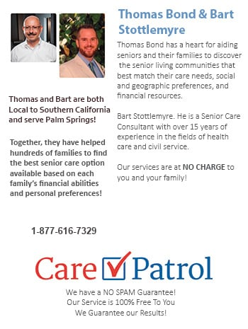 Senior Care Help for Palm Springs