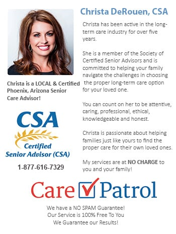 Phoenix Senior Care CSA Advising Staff - we can help to place you in the best assisted living in Phoenix