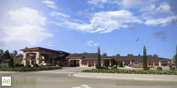 Seasons of Santaquin assisted living facility under gorgous Utah skies