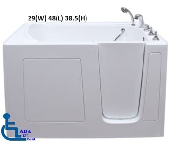 Walk-in / Safety Bathtubs For Seniors and Assisted Living Facilities