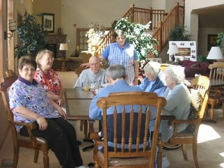 Autumn Springs - seniors lounging