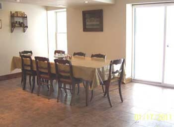 Adult Foster Care dining room