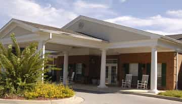 Clare Bridge at Hampton Cove offers memory care services, and is in a beautifully designed building, and can house 50 residents