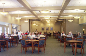 dining room of facility