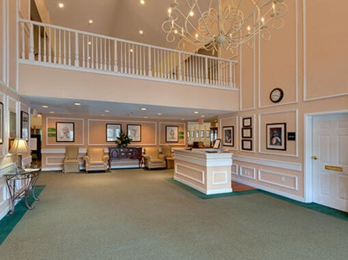 Emeritus at Trace Pointe lobby