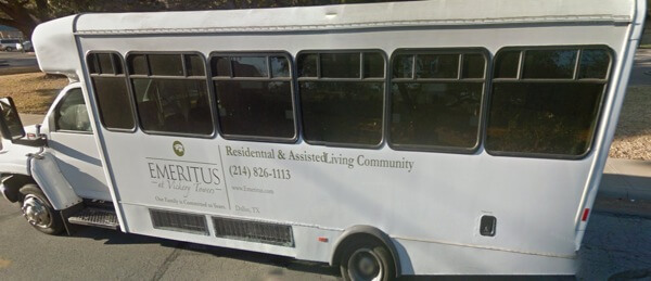 Emeritus at Vickery Towers Dallas - resident transporation bus
