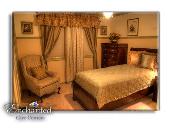 senior bedroom at assisted living