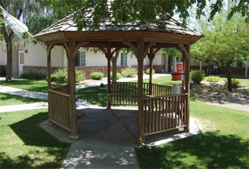 outdoor gazebo area of facility