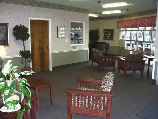 Foundation Park Alzheimer's care center lobby view