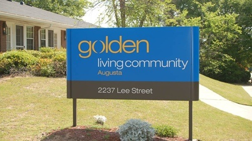 Golden Living Centers welcome sign