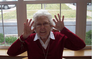 Senior having fun at Jersey Ridge Place