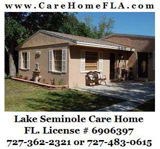 Lake Seminole Care Home really does offer dignified care and assistance with daily tasks.
