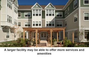 Large assisted living facility