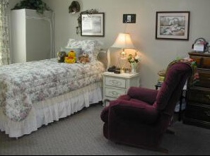 Marantha Village senior's bedroom