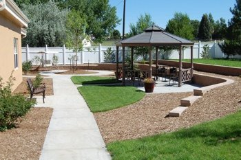 backyard and facility gazebo