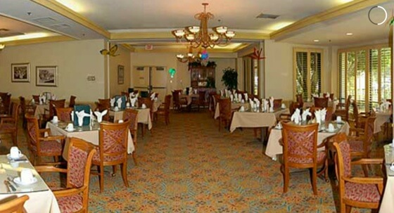 Nohl Ranch dining area for seniors