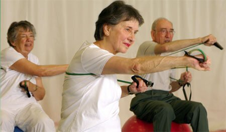 Norwood Crossing seniors exercising