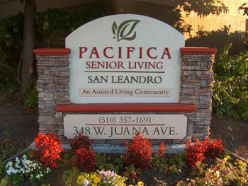 front sign of Pacifica San Leandro