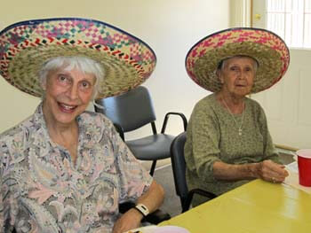 Fun hats on residents!