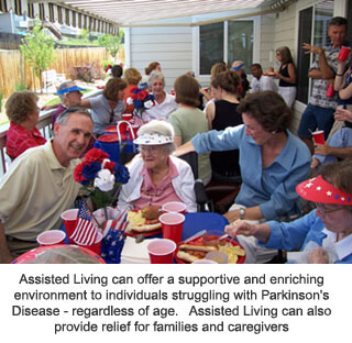 Assisted Living can help those with Parkinson's Disease