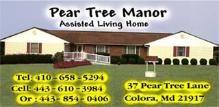 Pear Tree Manor assisted living in Colora, MD