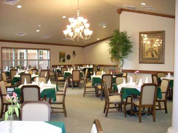 Our facility's dining room is geared towards making seniors comfortable and able to socialize