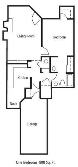 Floorplan One Bedroom