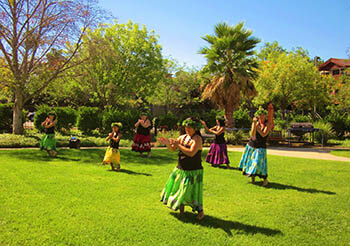Hula Dancers at the facility