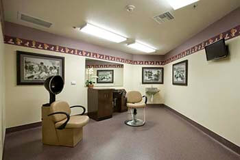 salon at the facility